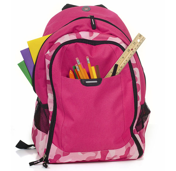 Backpack with School Supplies for D R